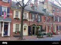 Colonial houses in Philadelphia, Pennsylvania with ...