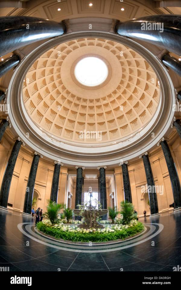 Dome Of Main Atrium In National Art