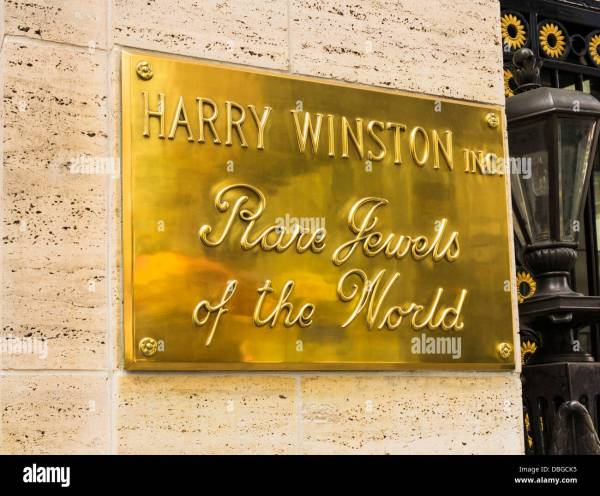 Sign Harry Winston Jewelry Store 5th Ave Nyc