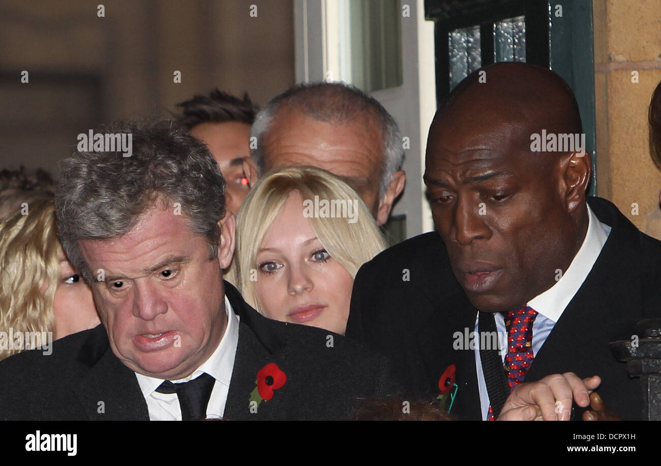 Frank Bruno The funeral of Sir Jimmy Savile held at Leeds Cathedral Leeds, England - 09.11.11 Stock Photo