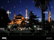 Night Shot Sultan Ahmed Mosque Blue