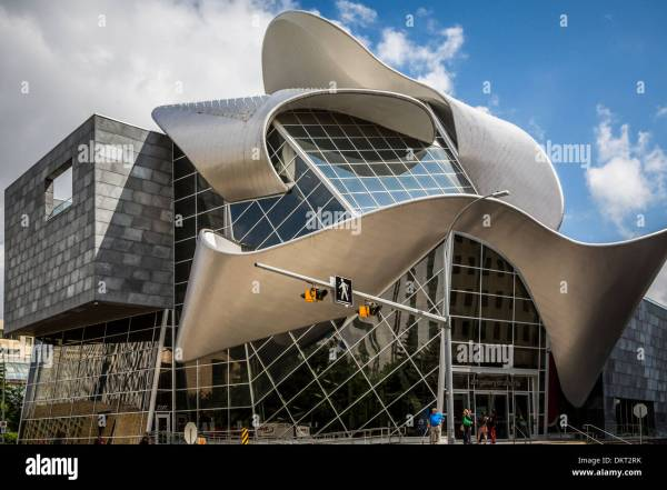 Architectural Design Of Art Building Exterior In Stock Royalty Free