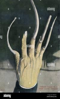 Long fingernails of a High Class Chinese Man Stock Photo ...