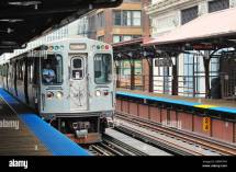 Usa Illinois Chicago Cta Brown Line Rapid Transit Train