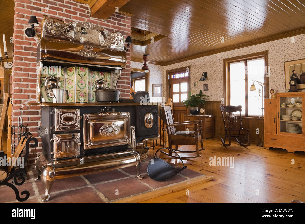 living room designs with wood stove furniture in pakistan old legare s rural antique the a canadiana cottage style fieldstone residential home built to look