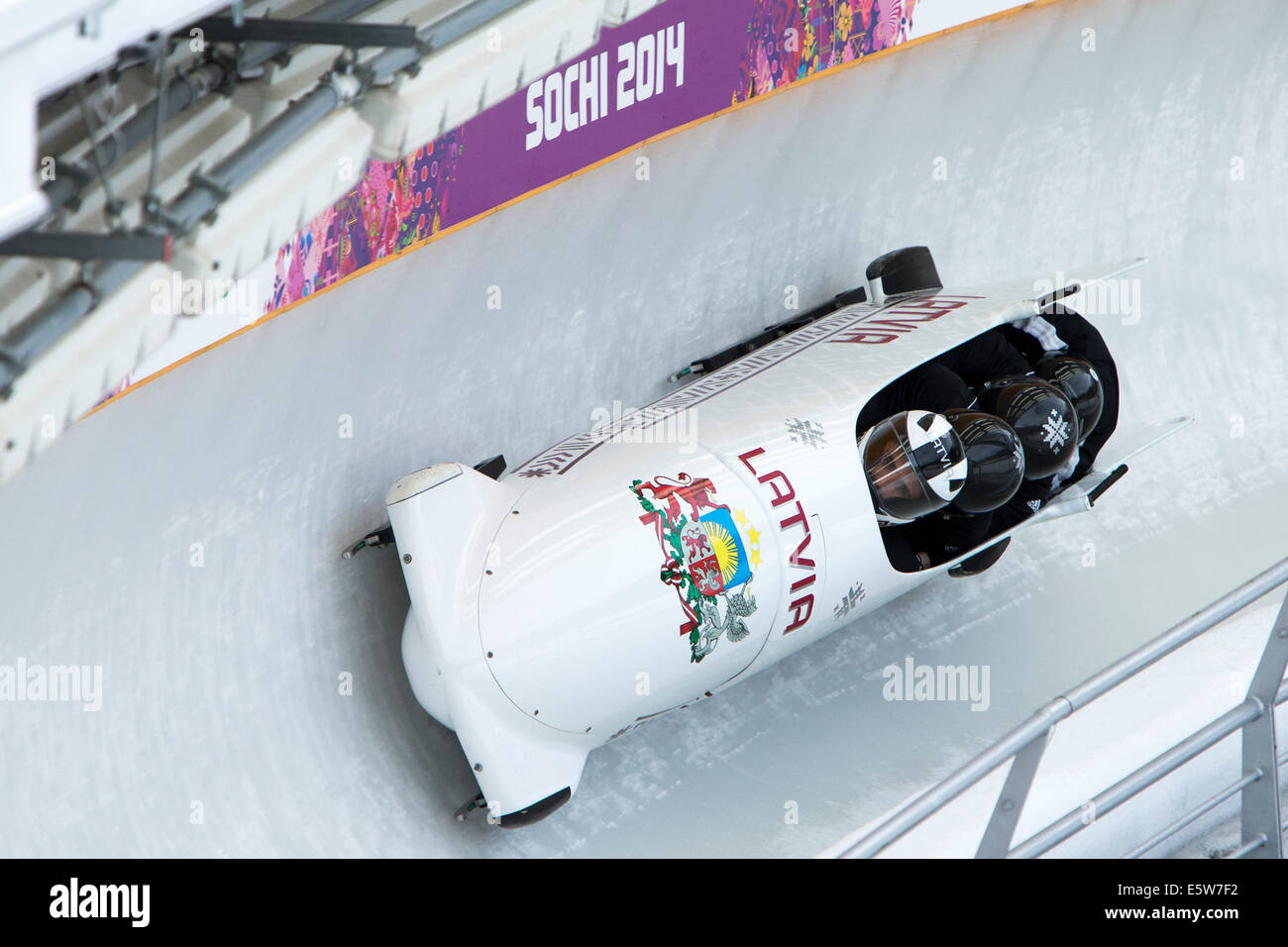 4 Man Bobsled Training At The Olympic Winter Games Sochi