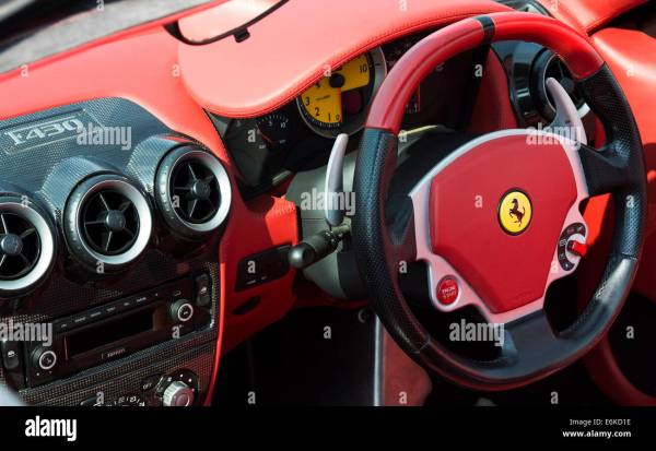 Ferrari F430 Steering Wheel And Dashboard Stock 72956730 - Alamy