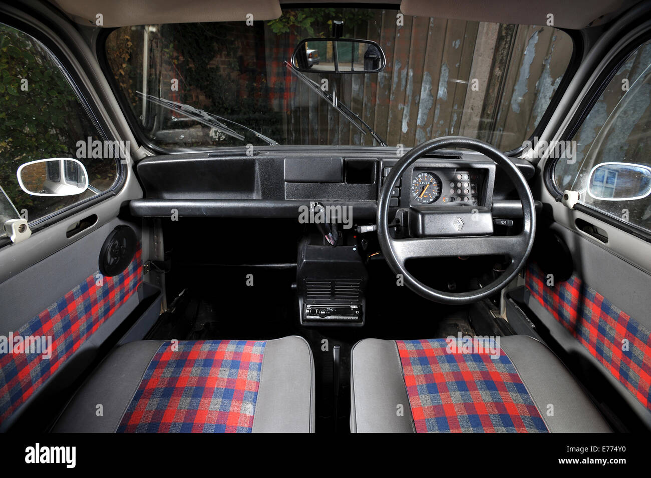 where to buy cheap chairs coccyx kneeling chair renault 4 classic french small car interior stock photo, royalty free image: 73301620 - alamy