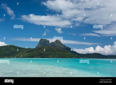 French Polynesia, Society Islands, Leeward Islands, Bora ...