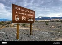Furnace Creek elevation -190 feet sign, Furnace Creek ...
