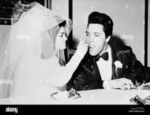 Las Vegas Nv - November 10 Elvis And Priscilla Presley