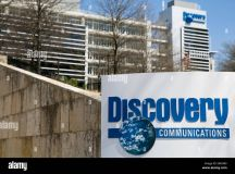 An exterior view of the headquarters of Discovery ...