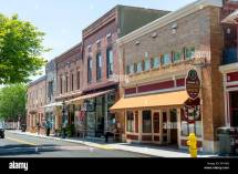 Downtown Scene Of Berlin Maryland Usa Stock