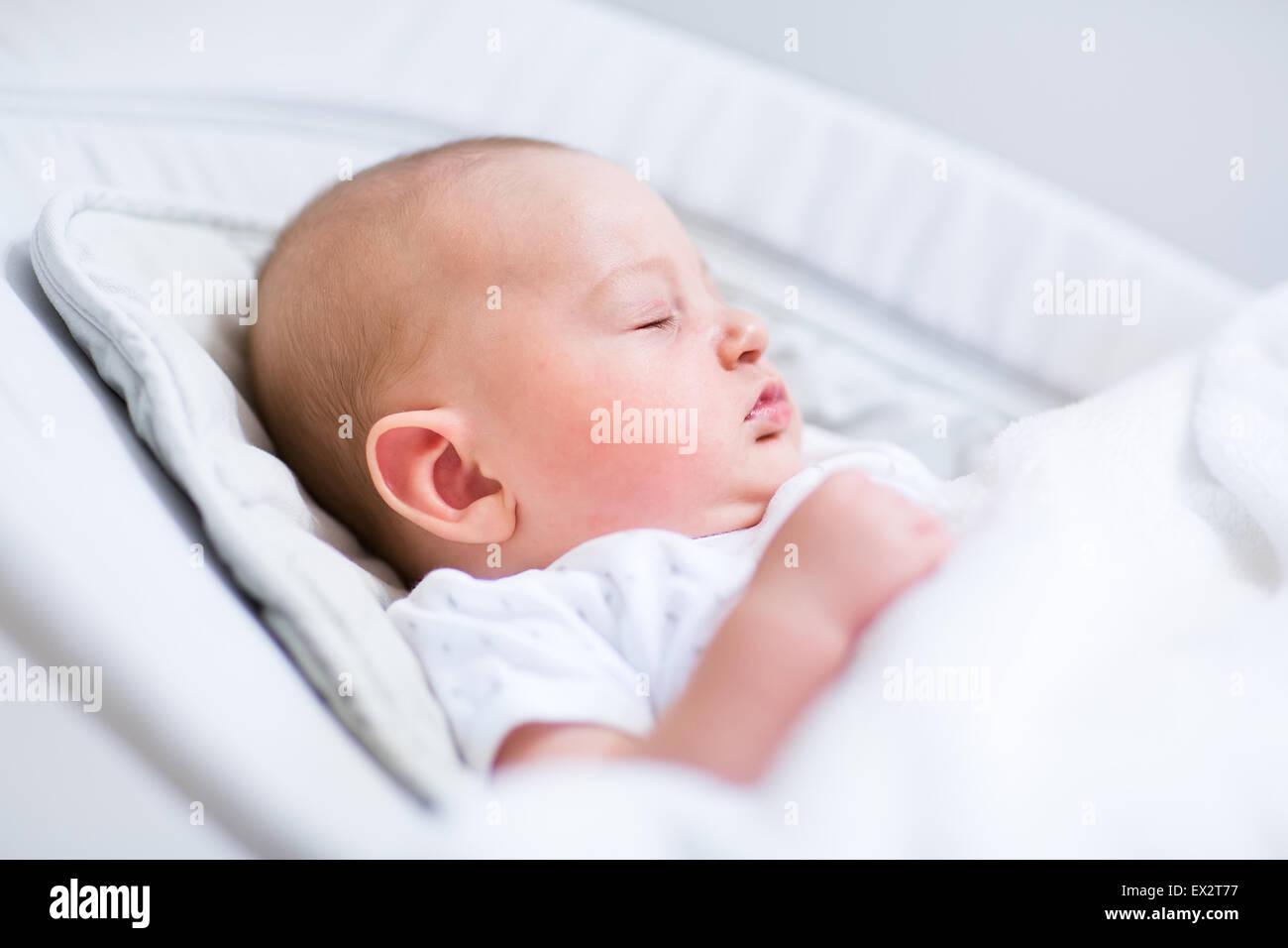 baby sleeping chair best value computer portrait of a newborn in bouncer under white blanket