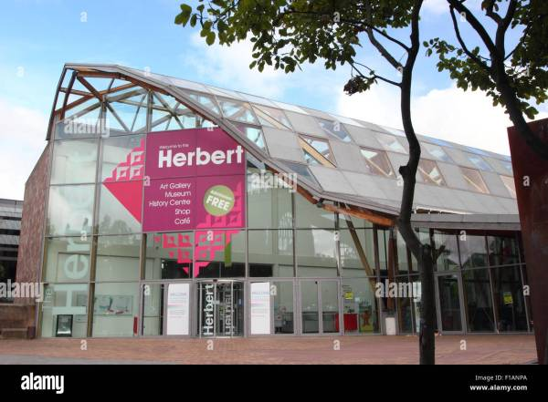 Glass Atrium Entrance Herbert Art And Museum In Stock Royalty Free