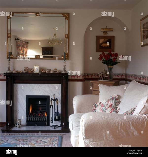 Mirrors above Fireplace for Living Room