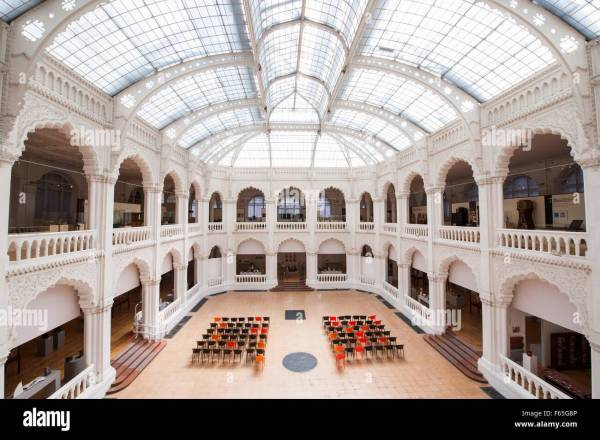Main Hall With Domed Glass Roof In Museum Of