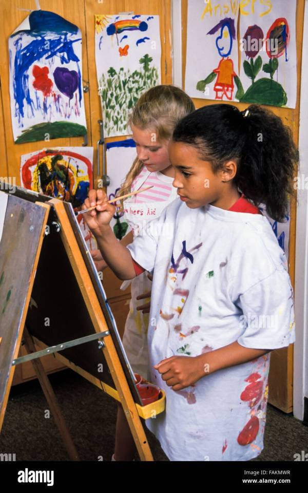 Child' Drawing Painting Easel Artwork Class Diversity