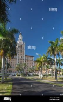 Biltmore Hotel Miami Coral Gables Florida Usa Stock