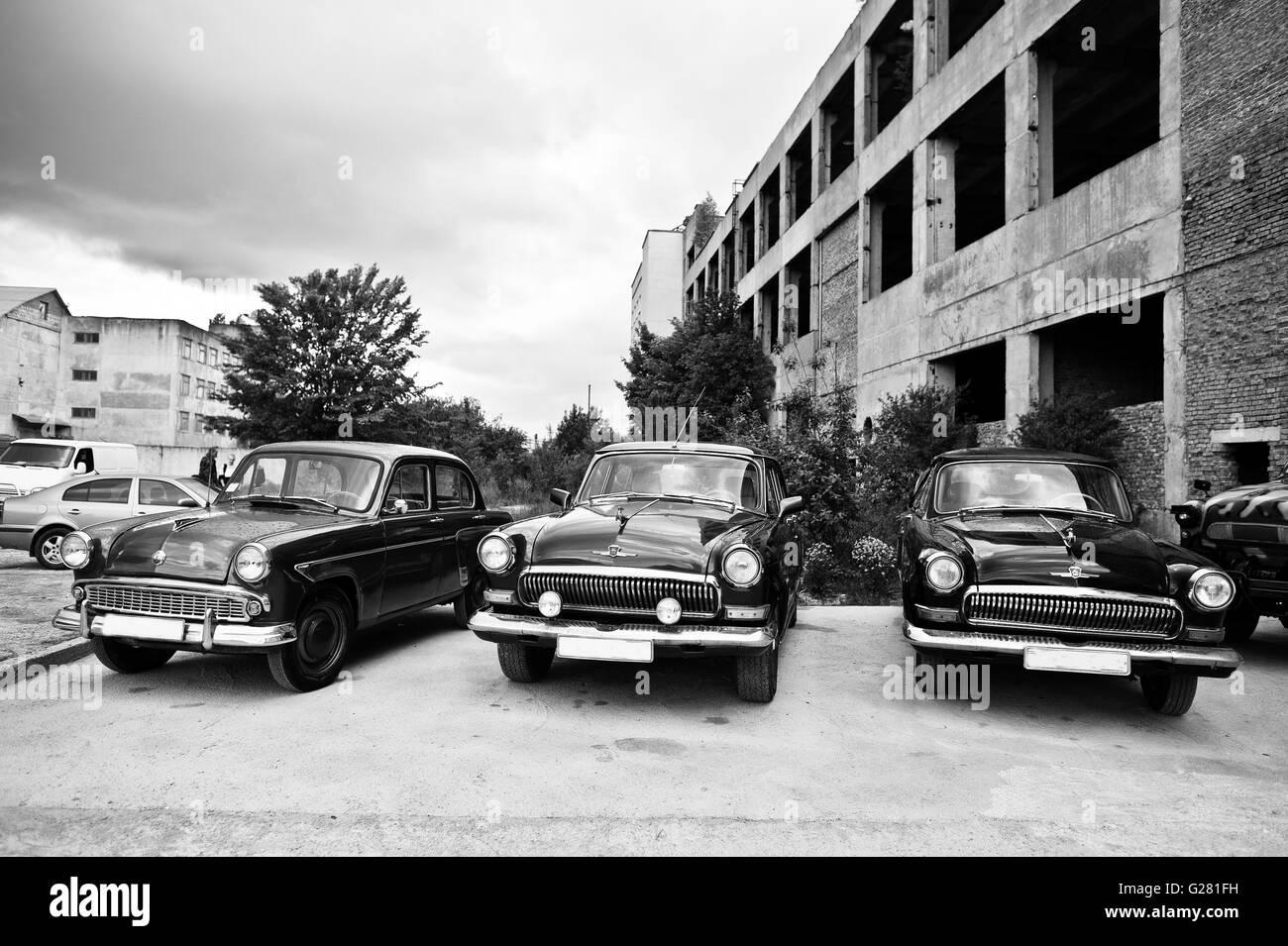 Podol, Ukraine  May 19, 2016 Classic Soviet Retro Cars