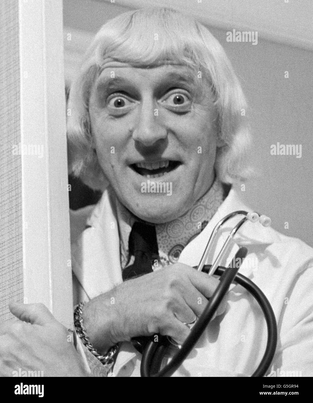 Jimmy Savile at Leeds General Infirmary Stock Photo