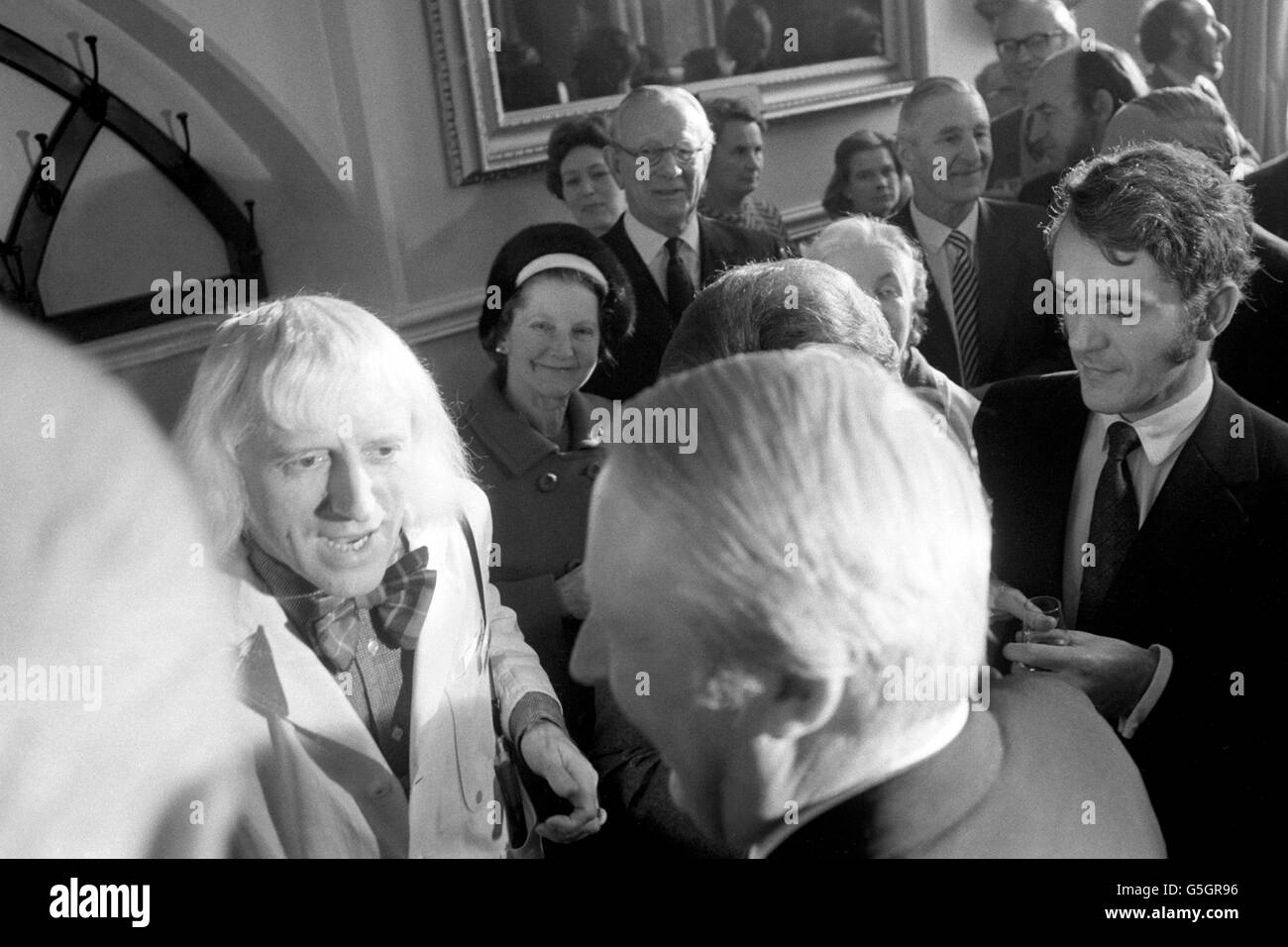 Leeds General Infirmary - Edward Heath and Jimmy Savile - Leeds Stock Photo