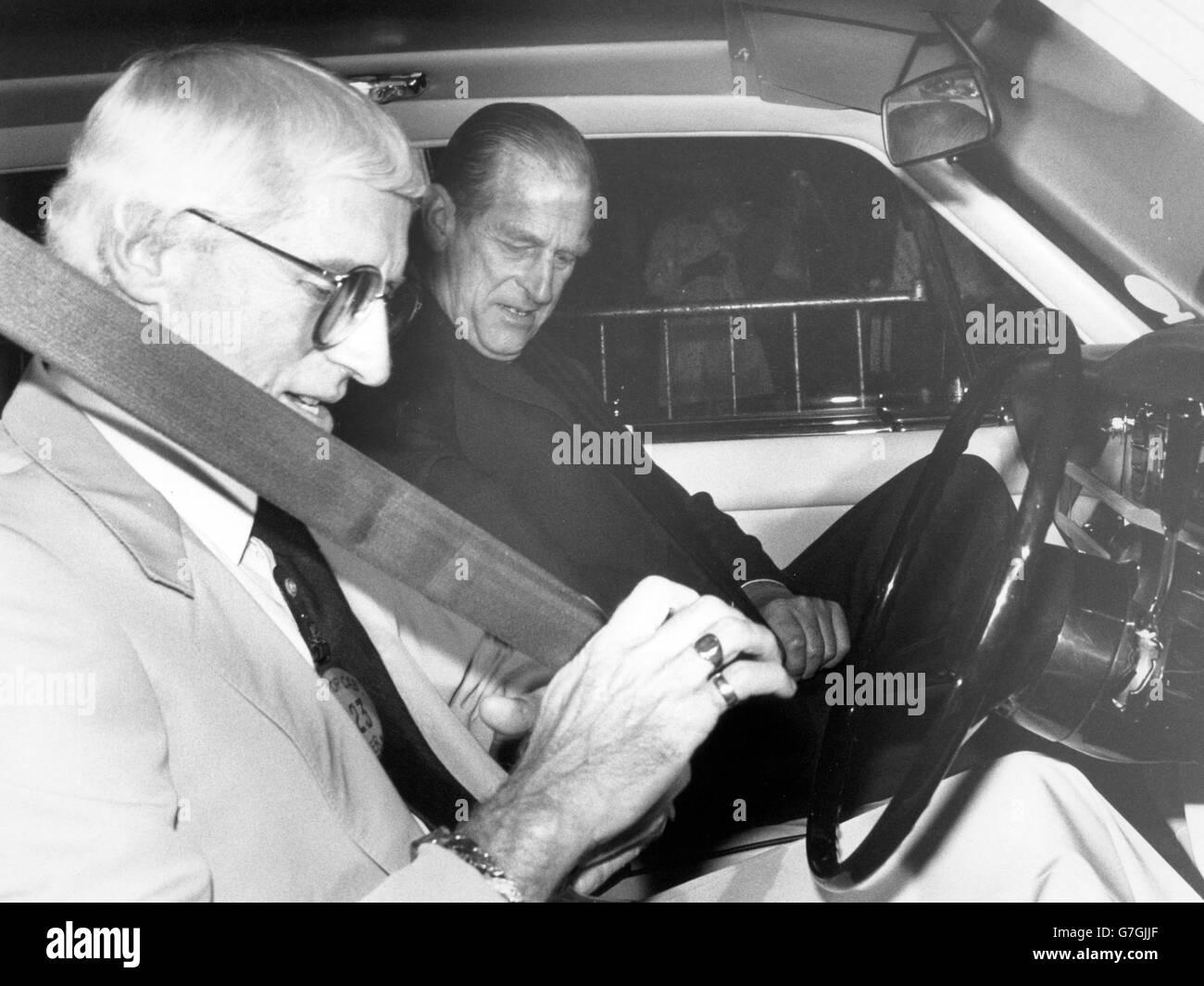 Royalty - Duke of Edinburgh and Jimmy Savile - Stoke Mandeville Hospital Stock Photo