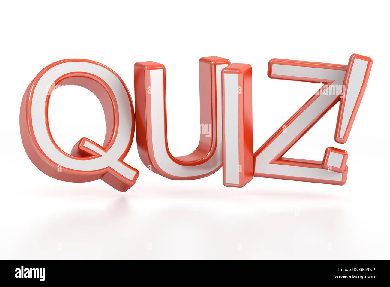 Quiz 3d Rendering Isolated On White Background Stock Photo Royalty Free Image