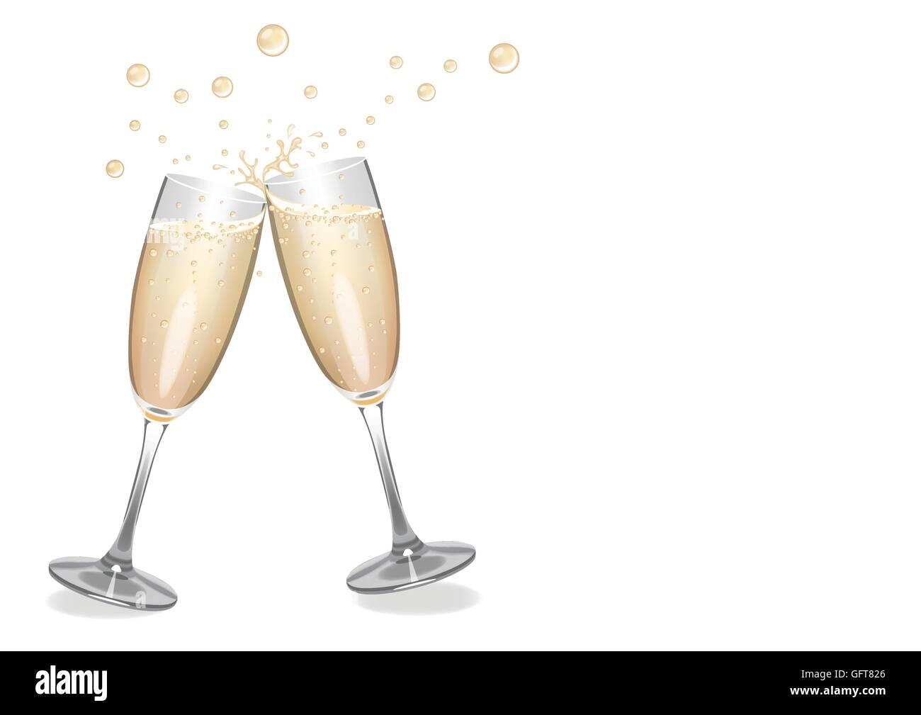 Champagne Wedding Bubbles