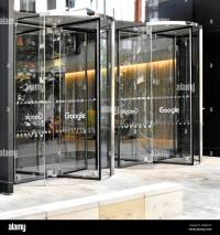 Revolving entrance doors to new Google office block in ...