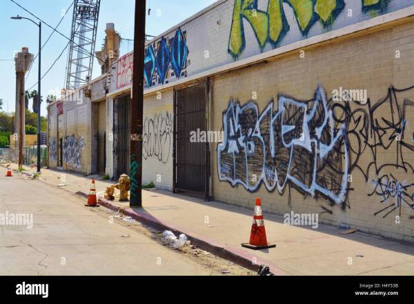 Urban City Life Art Metropolitan Building Downtown Graffiti Los Stock Royalty Free