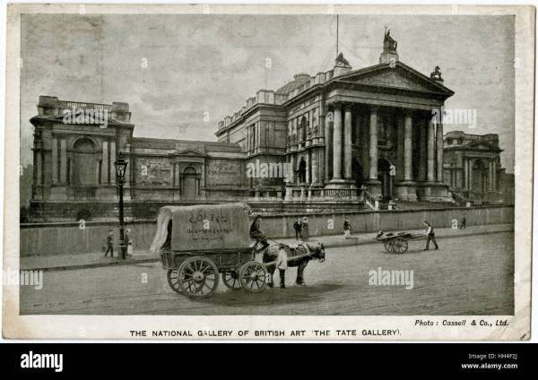 Tate Britain - Millbank London. Opened In 1897 Front Stock Royalty Free