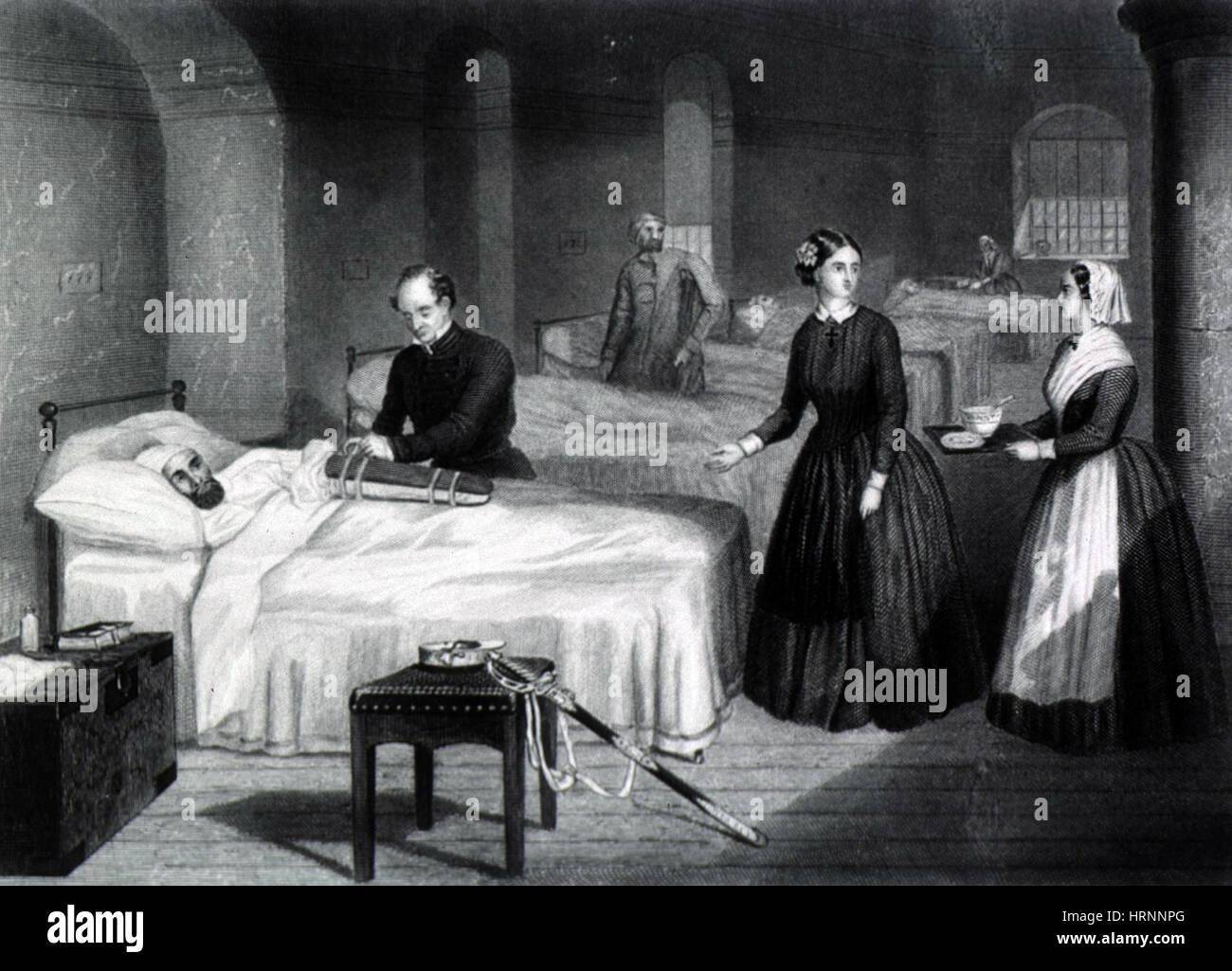 Crimean War Florence Nightingale At Scutari Stock Photo