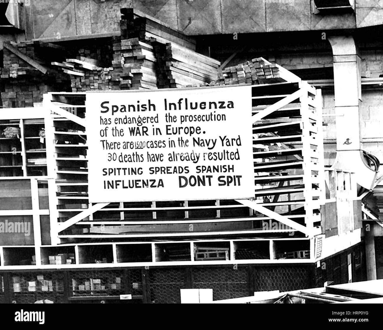 Wwi Spanish Influenza Stock Photo