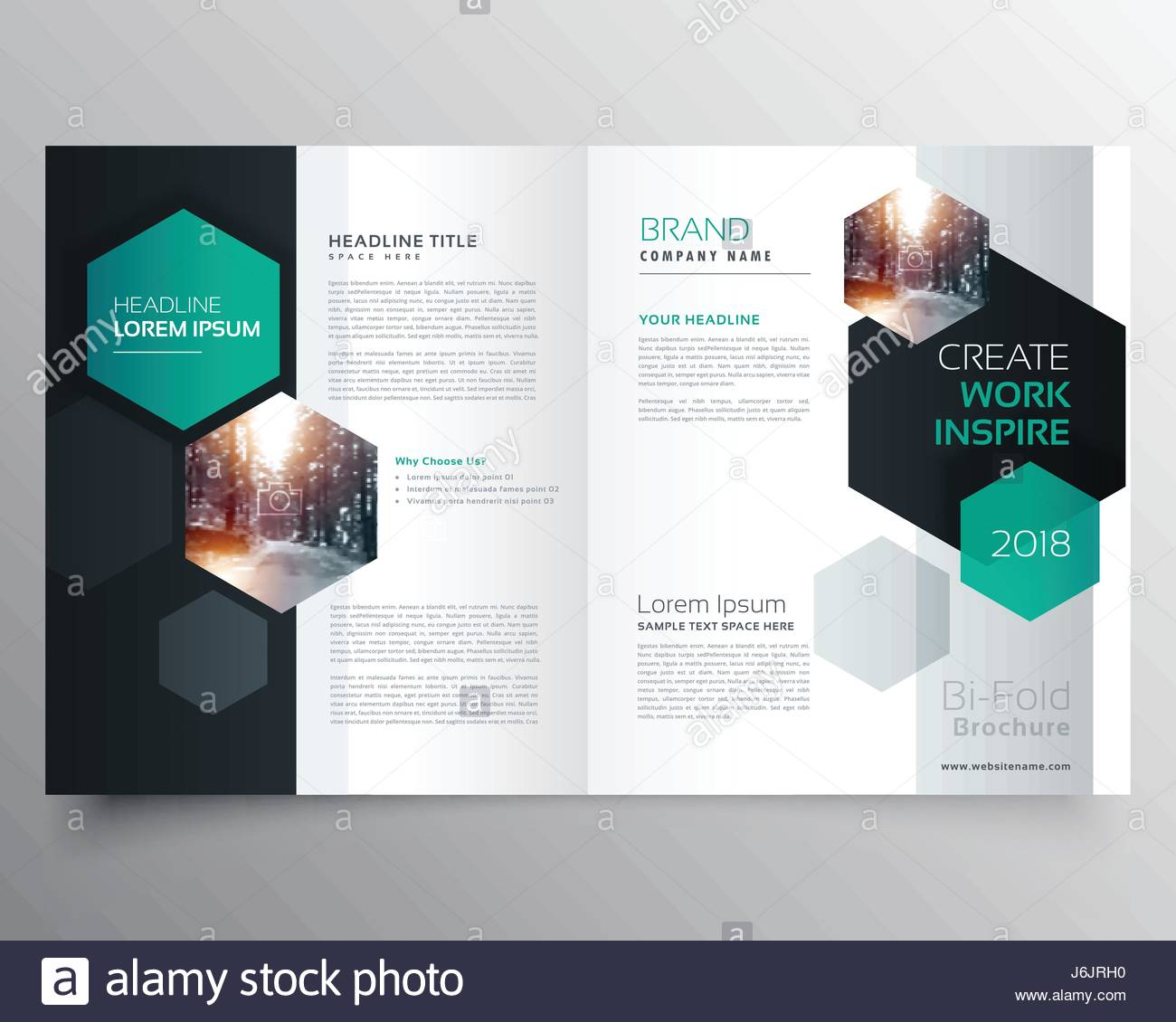 Bifold Business Brochure Or Magazine Cover Page Design