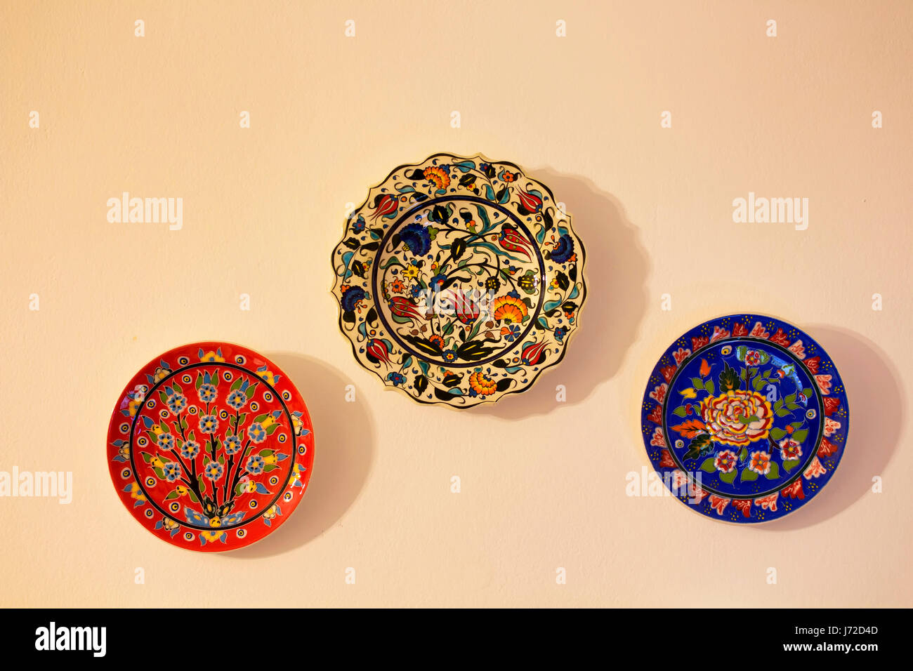 Colorful Art Ceramic Plates Stock Photos & Colorful Art