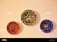 Colorful Art Ceramic Plates Stock Photos & Colorful Art ...