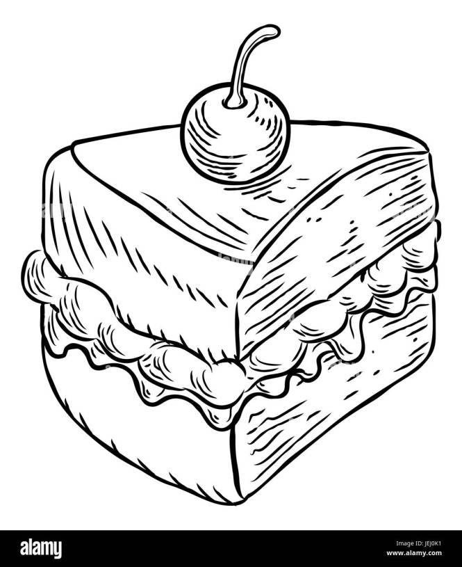 How To Draw A Cake 1000 Images About Sketch On