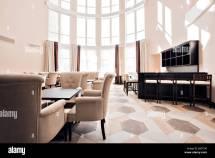 Elegant Hotel Lobby Stock &