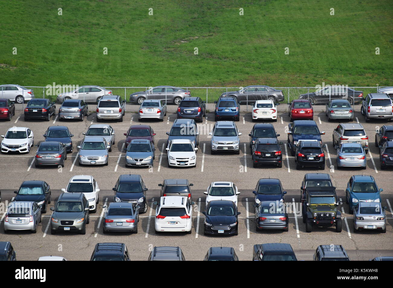 Mall America Parking Lot Aerial View
