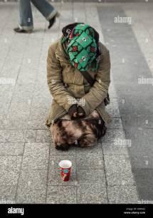 Homeless Tramp Vagrant Sleeping Rough Stock