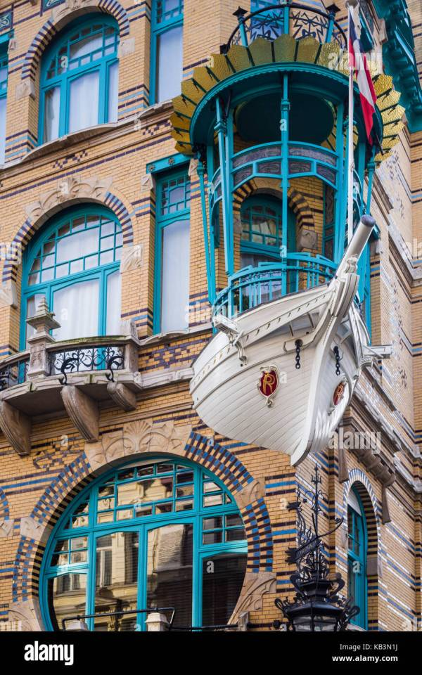 Art Nouveau Building in Antwerp