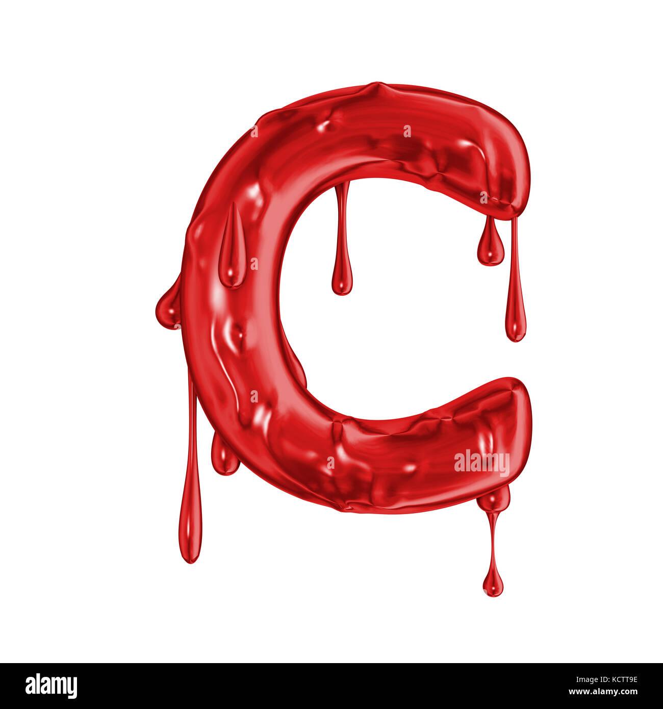 Blood Font Halloween Horror Letter C Stock Photo Royalty