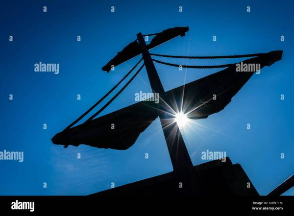 Flying Pirate Ship Silhouette