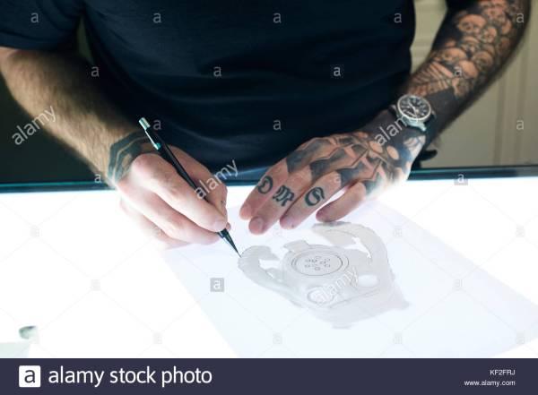Skinhead Tattoo Stock &