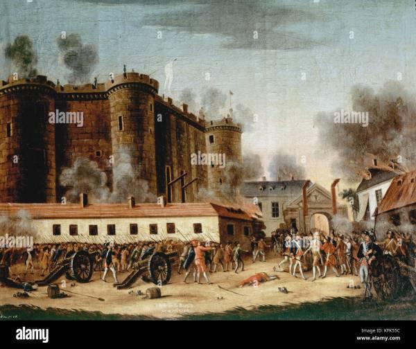 Storming Of Bastille Stock &