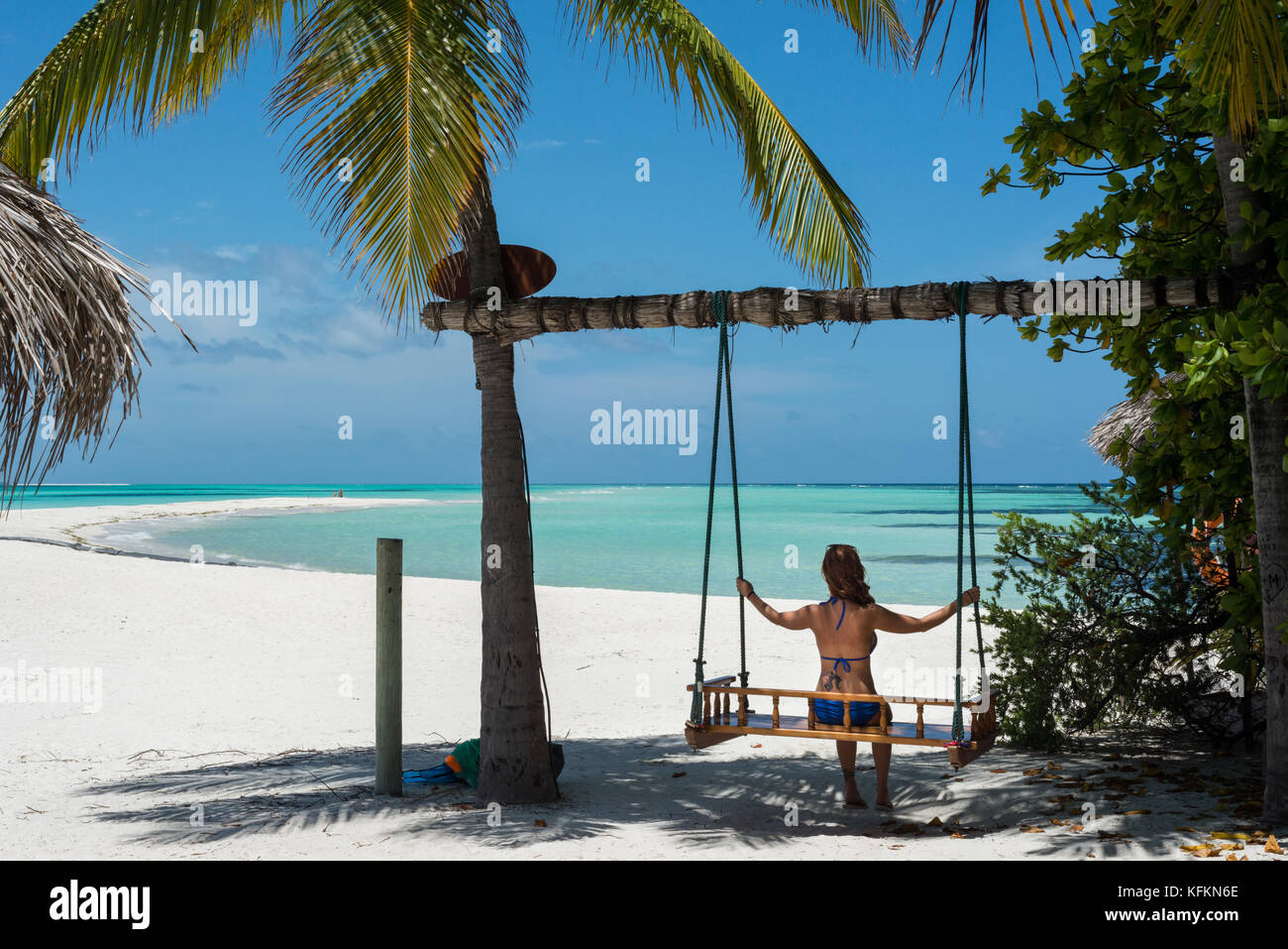 swing chair thailand covers and bows rental sea ocean stock photos