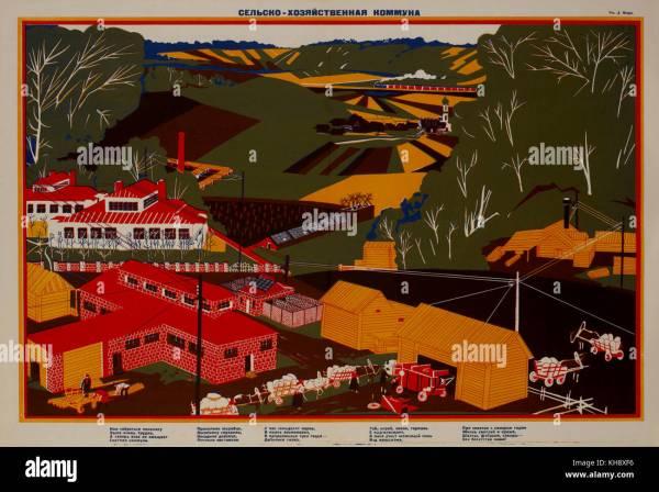 Communism Propaganda Poster Stock &
