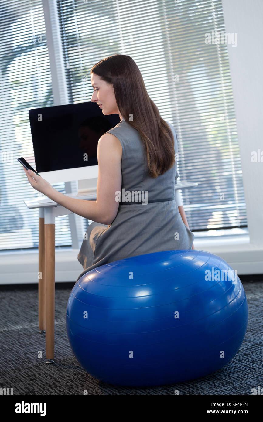 Exercise Ball Desk Stock Photos  Exercise Ball Desk Stock