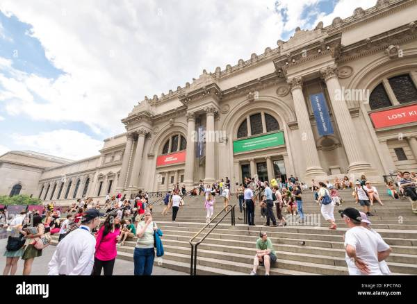 Exhibit Metropolitan Museum Art Nyc Stock &